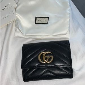 Authentic Gucci Marmont Trifold wallet
